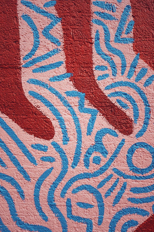 Mural detail at Neighborhood Cellars in Oak Cliff, TX