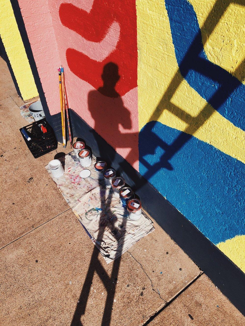 Kyle Steed mural for Neighborhood Cellars