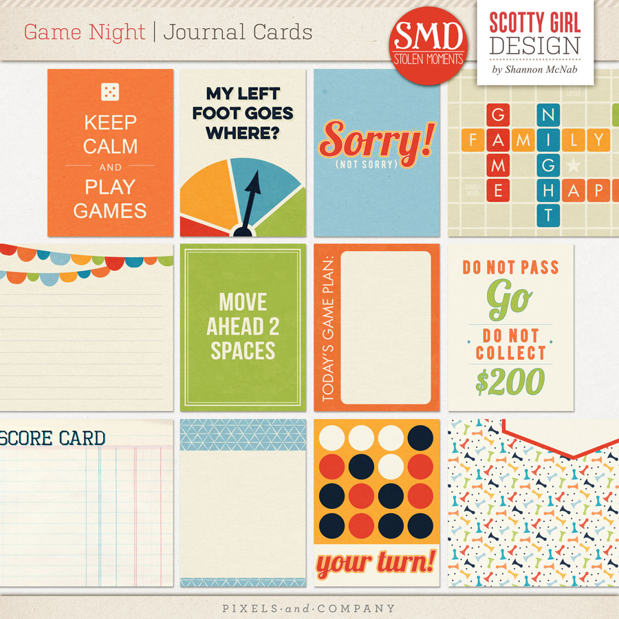 Card Game Design Game Night Journal Cards by
