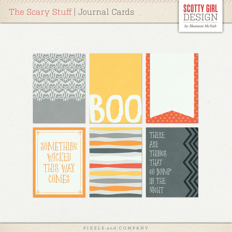 The Scary Stuff Journaling Cards by Scotty Girl Design