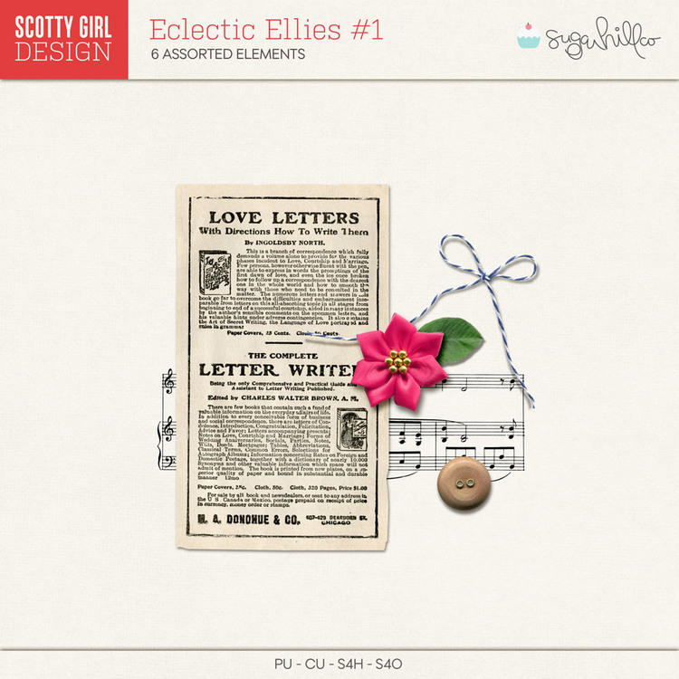 Eclectic Ellies #1 by Scotty Girl Design | Commercial Use Product