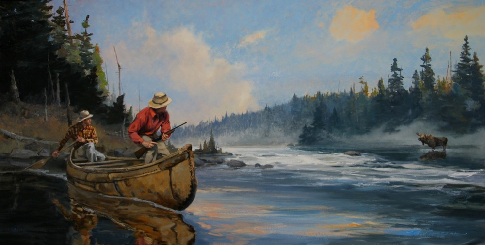 """Out of the Mist""  24 x 48  Oil"
