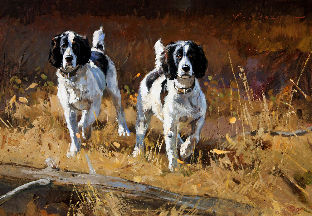 """Twin Springers"" 11 x 16 Oil"