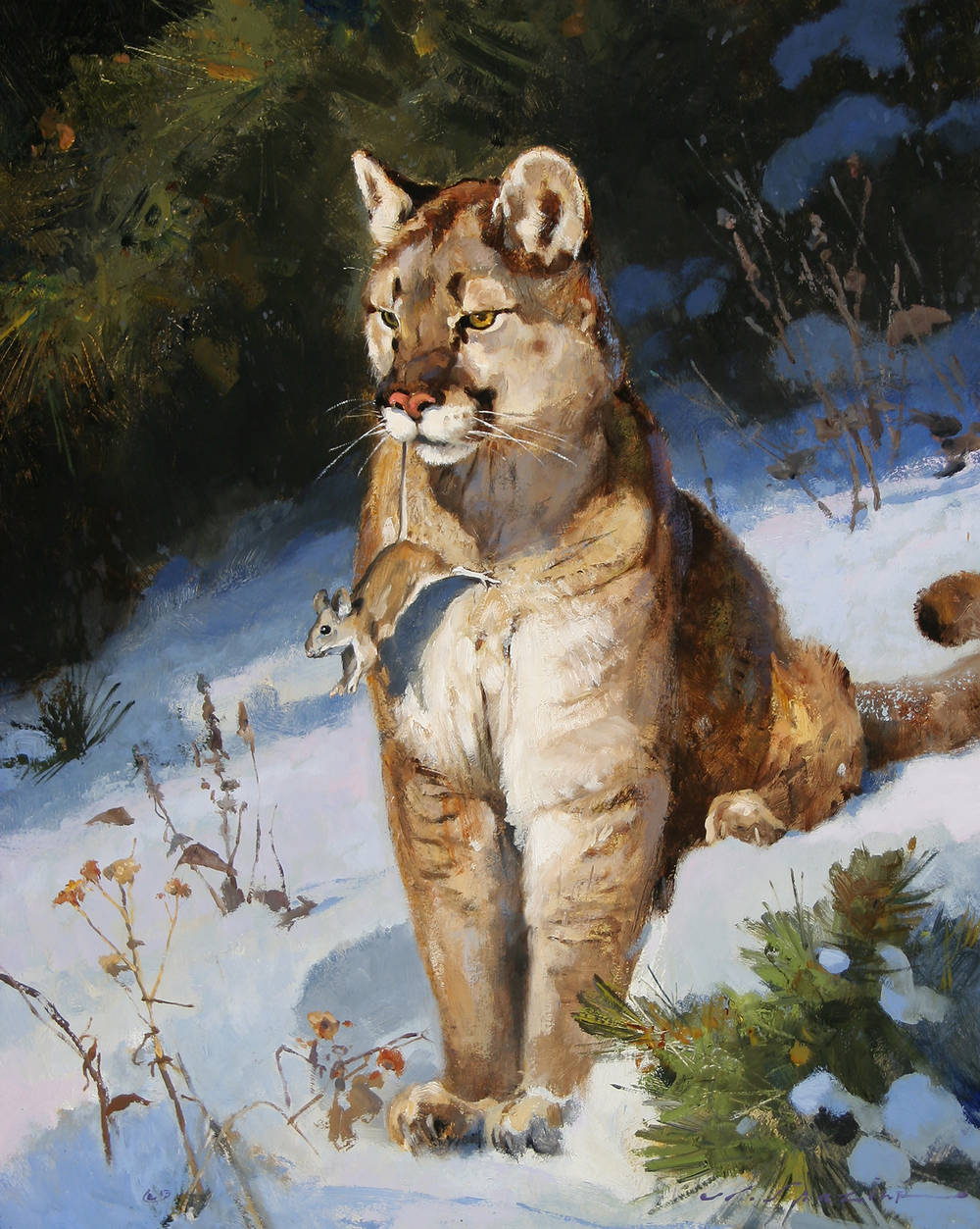"""The Mighty Hunter"" 20 x 16 Oil"