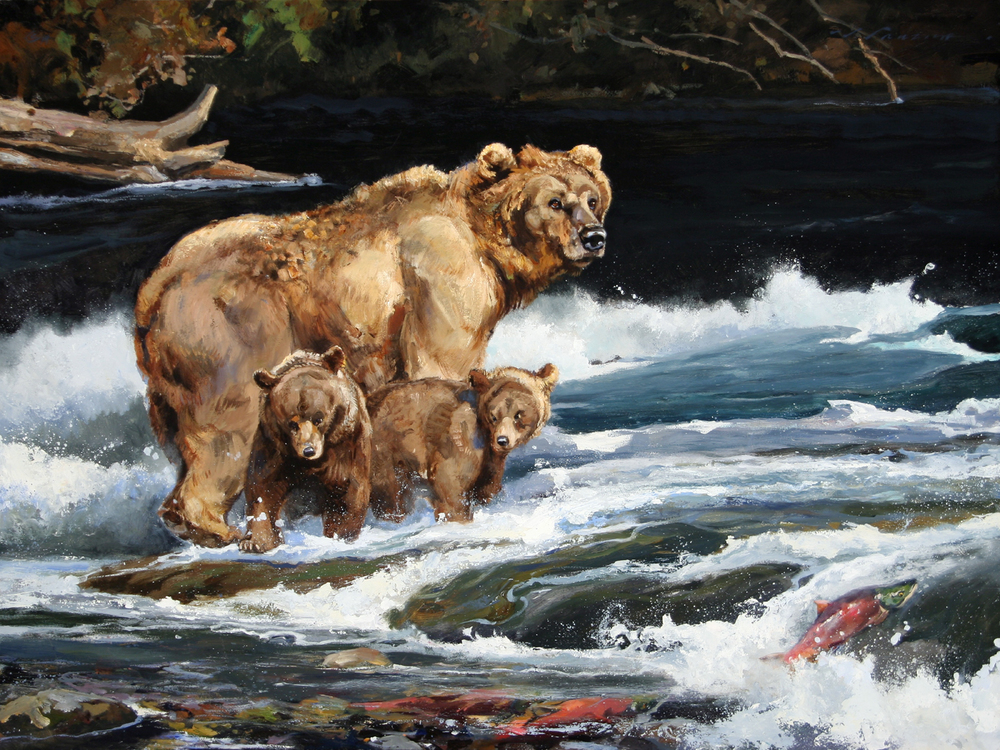 """River Babies"" 30 x 40 Oil"