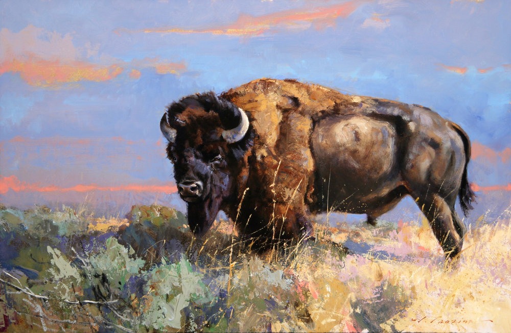"""Chieftain"" 16 x 24 Oil (Briscoe Museum, San Antonio TX)"