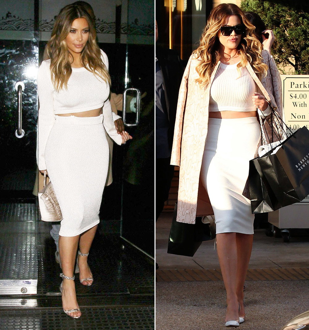 Khloe Kardashian Rocks Her FBRB In Tight Skirt And Crop Top U2014 F L A T B E L L Y - Roundbottom