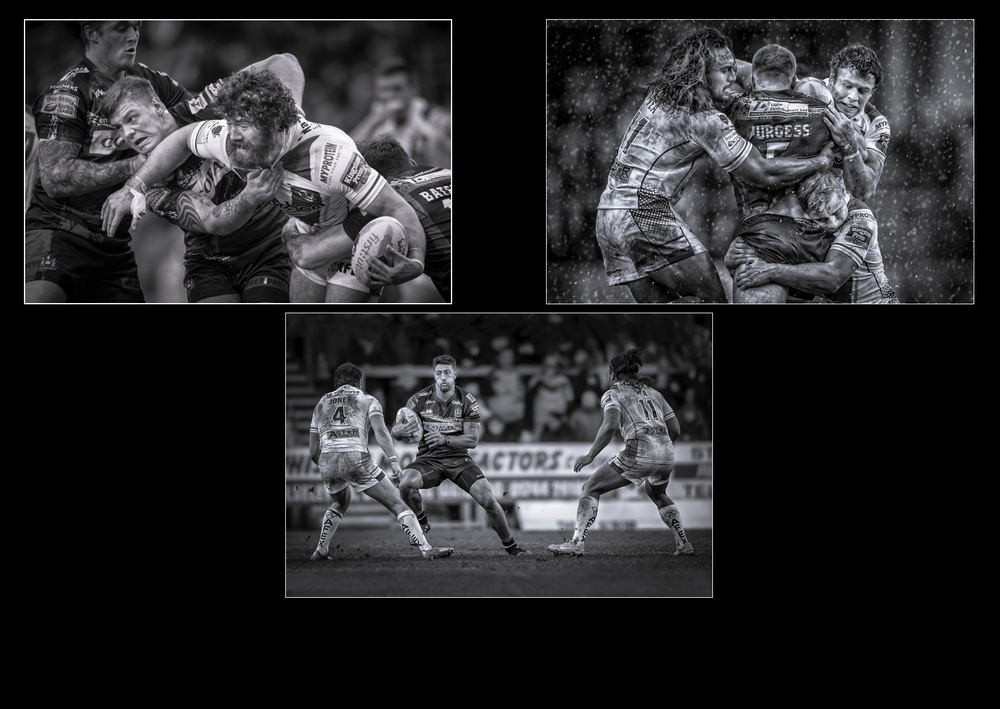 Rugby - Bronze Medal Award Winner - Monochrome Print
