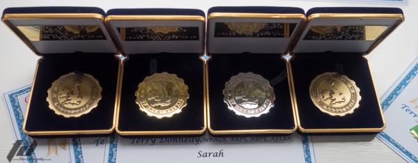 BPE Award Medals
