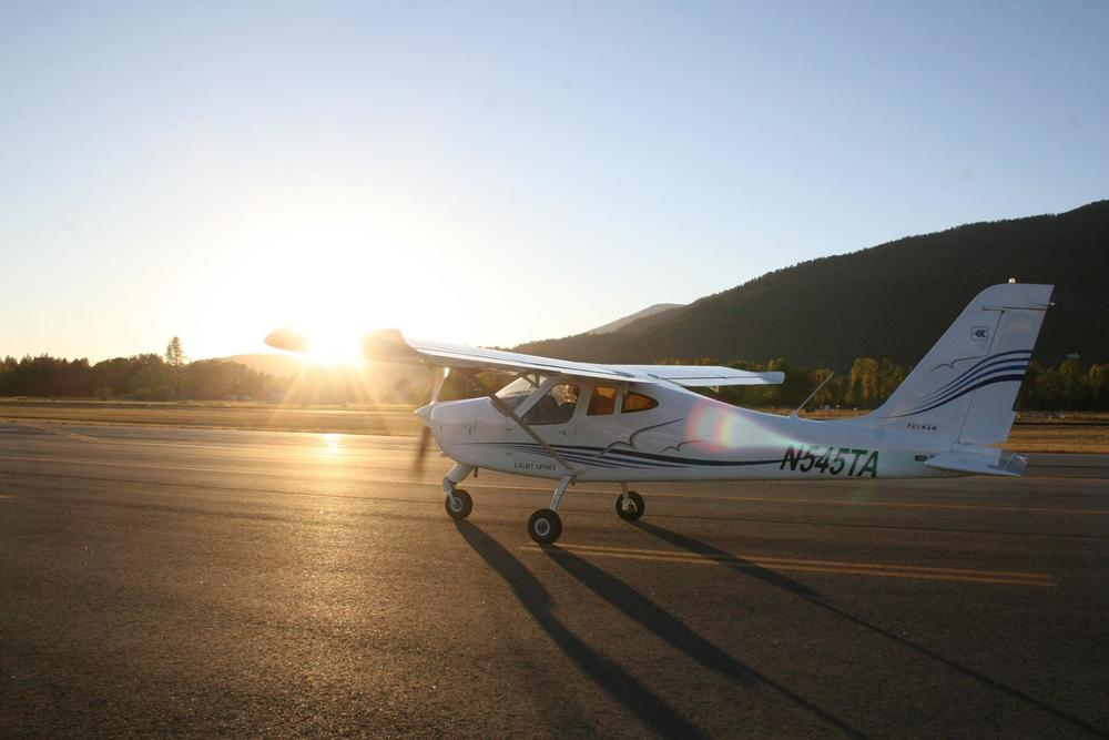 Sunset solo in our Tecnam P92 eaglet