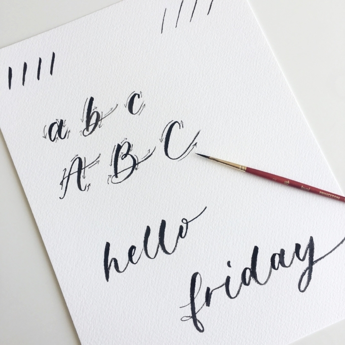 Brush Lettering - Example