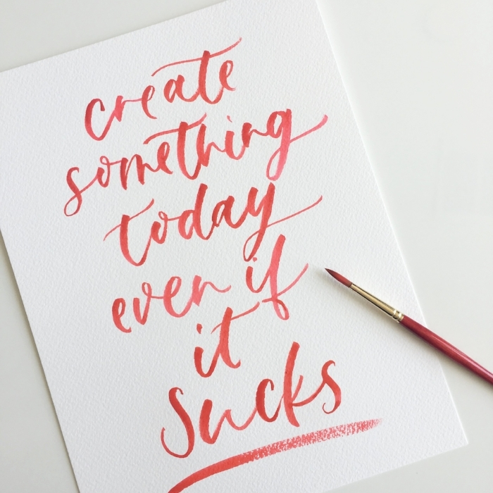 Brush Lettering - Quote