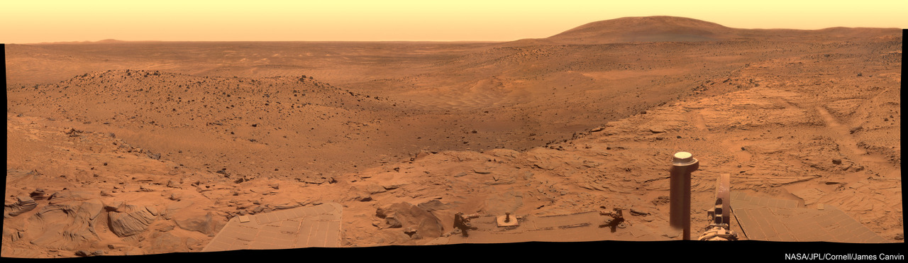 West Valley Mars 180 degree panorama. Incredible.