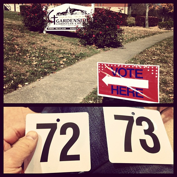 Gardenside neighborhood precinct - 45 minute wait to #vote #2012 #thisisagoodproblem (at Gardenside Christian Church)