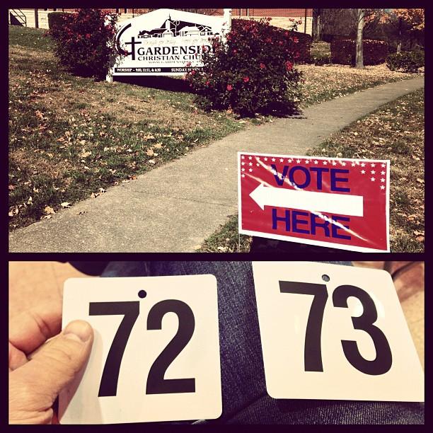 Gardenside neighborhood precinct - 45 minute wait to #vote #2012 #thisisagoodproblem (at Gardenside Christian Church)