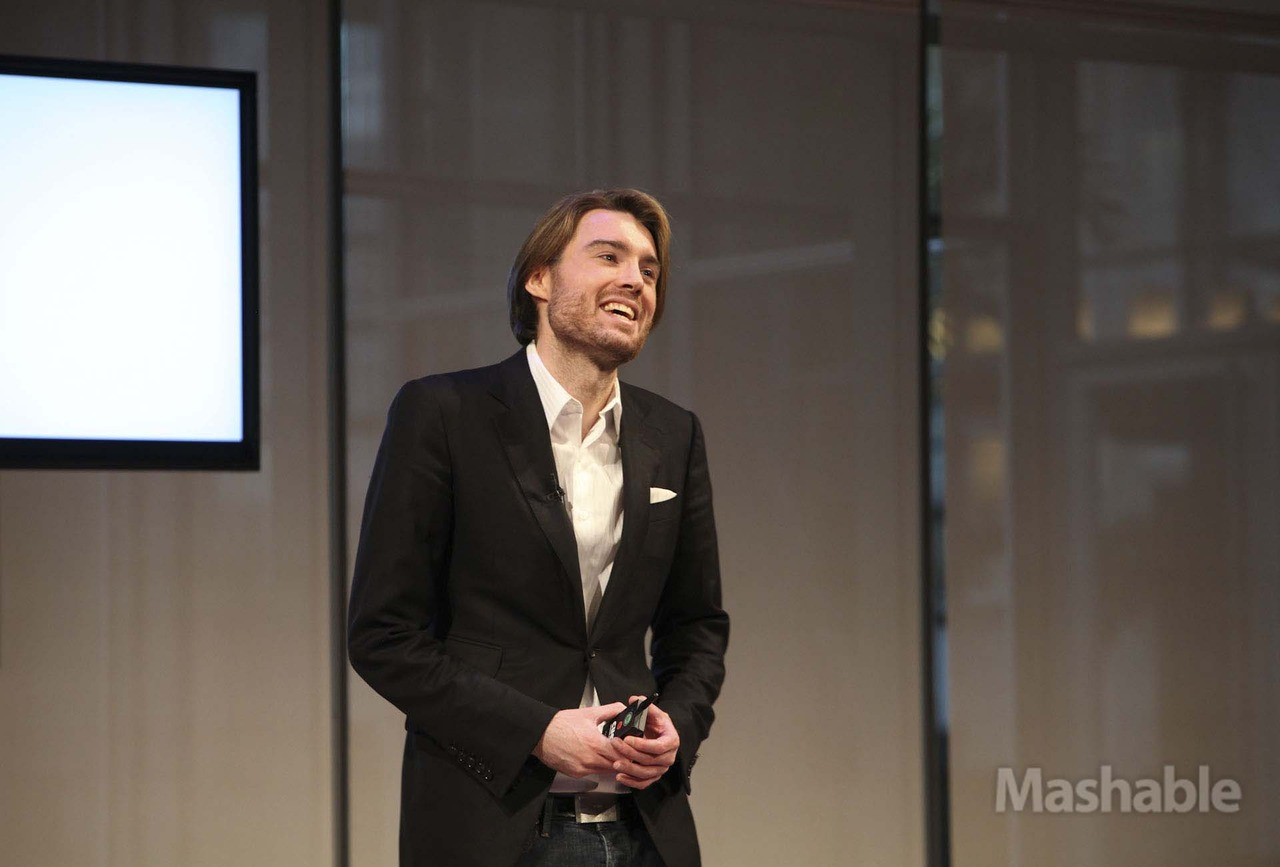 mashable: Pete Cashmore kicks off Mashable Media Summit with a look at the trends to expect in 2013: Mobile First Social First Visuals matter Ads are content, too [Photo by Erica Gannett for Mashable]