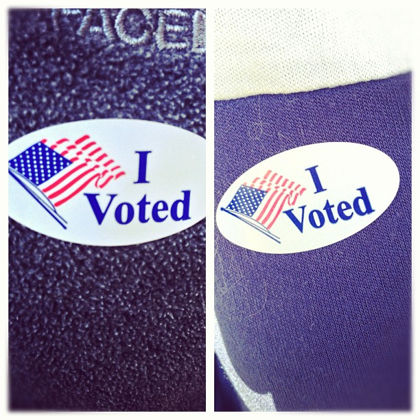 #Voted w/ @pipergayheart #gameday #2012 (at Gardenside Christian Church)
