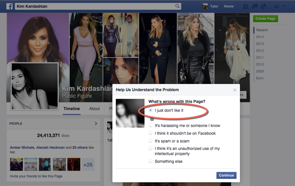 Customizing who and what you want to see from an individual on Facebook