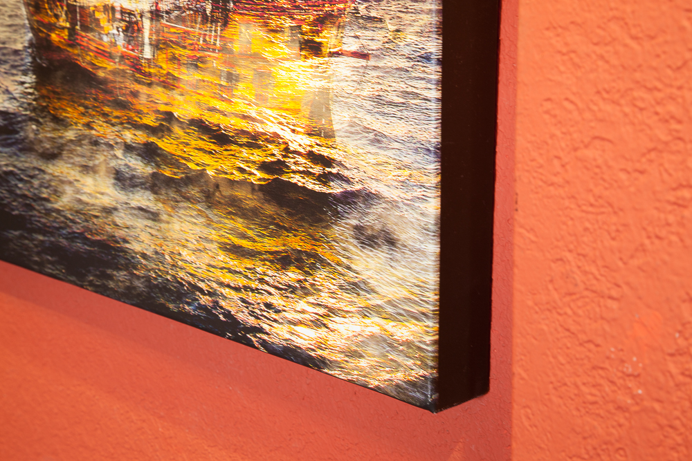 Printed on Canvas and Gallery Wrapped