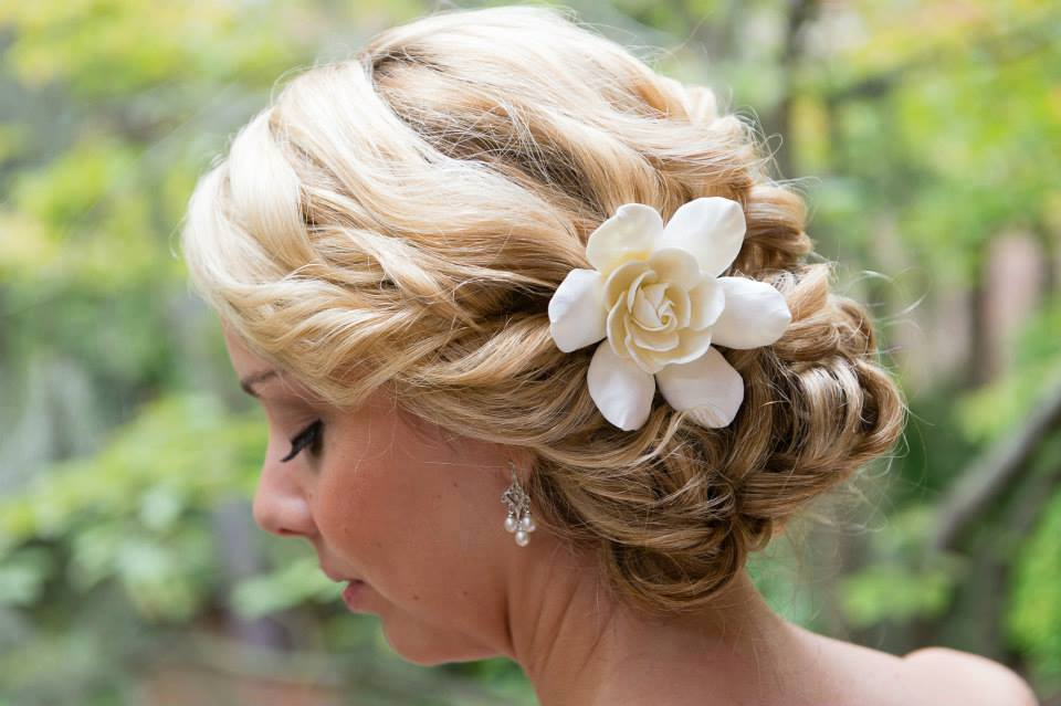 Updo for Mary Lyon's big day last month