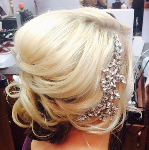 Gorgeous Lashes & Lace Bride With Headpiece + Side-Swept Up-Do