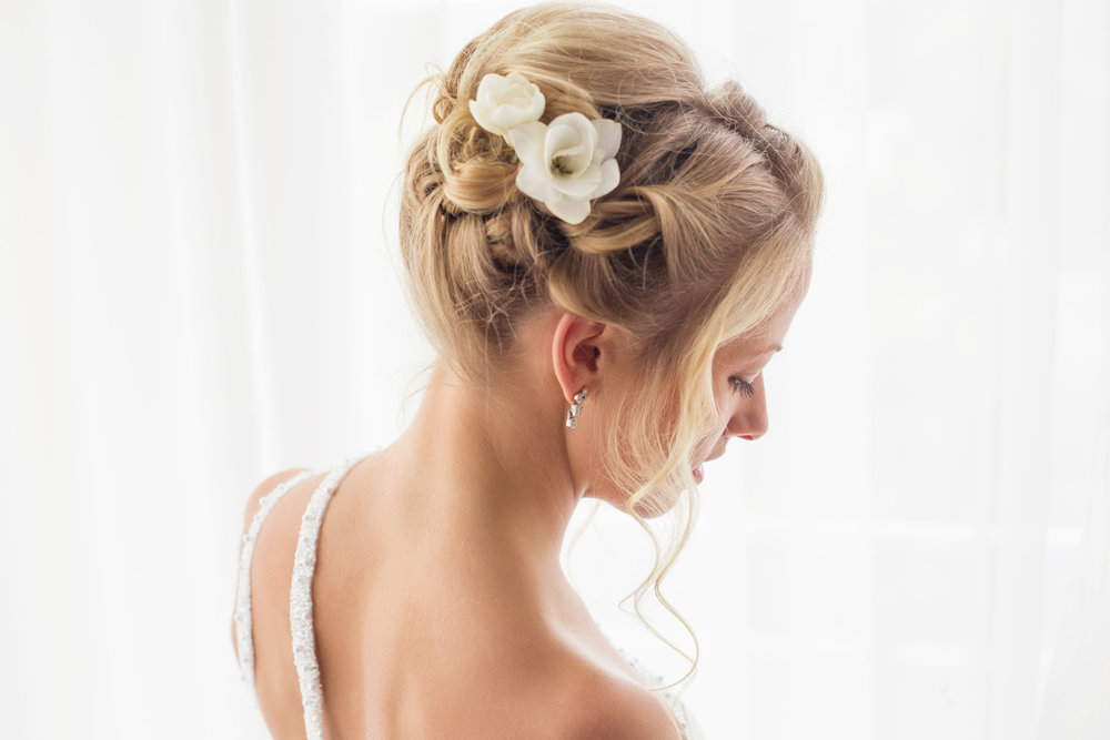 46101876 - beautiful brides hairstyle for wedding