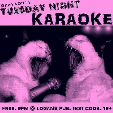 KARAOKE 9PM TONIGHT!