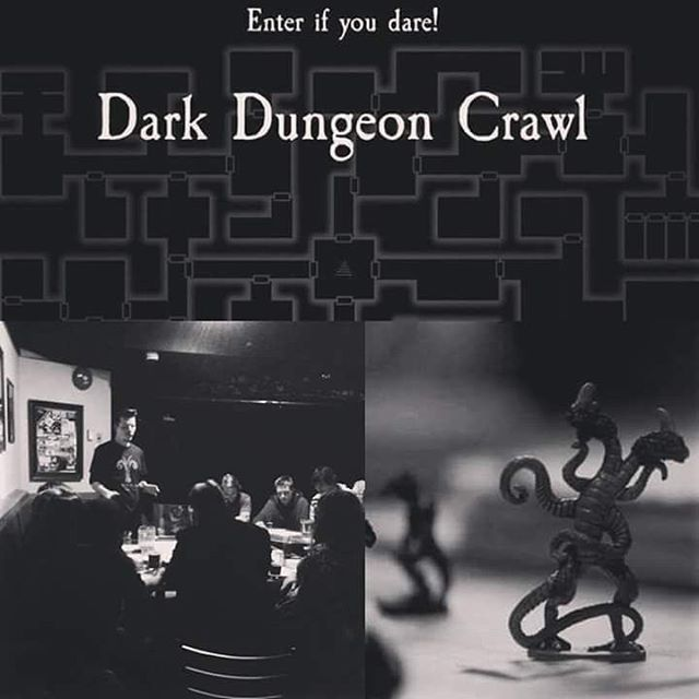 TONIGHT it's @thevorpalgnome DARK DUNGEON CRAWL! All you have to do is show up, grab a character & join in the Role playing game Madness!  Not your thing? don't worry its still RETROWAVE GAMES NIGHT all the screens will have classic video games on them &