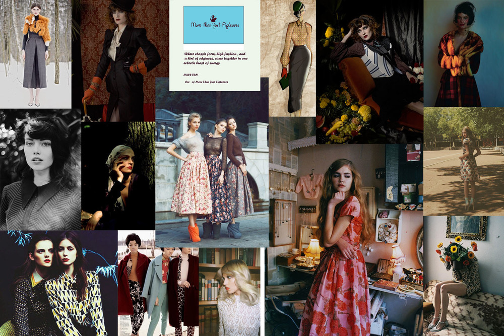 Setting the romantic mood for winter our moodboard with romantic undertones and color.