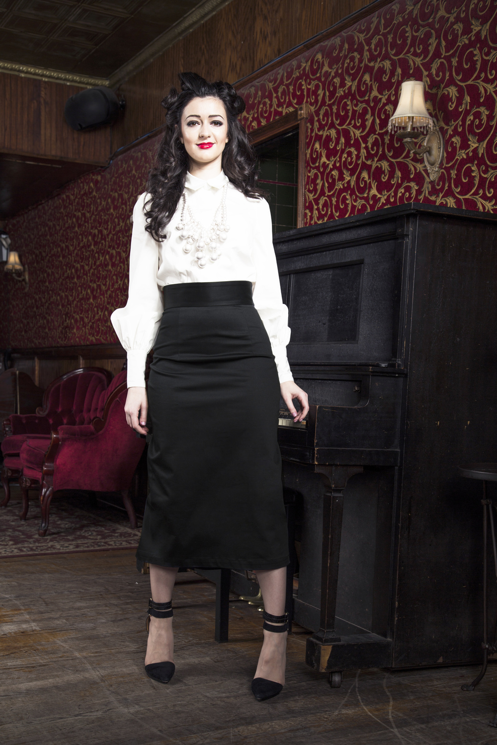 Black Pencil Godet Skirt — More Than Just Figleaves | Fashionable ...