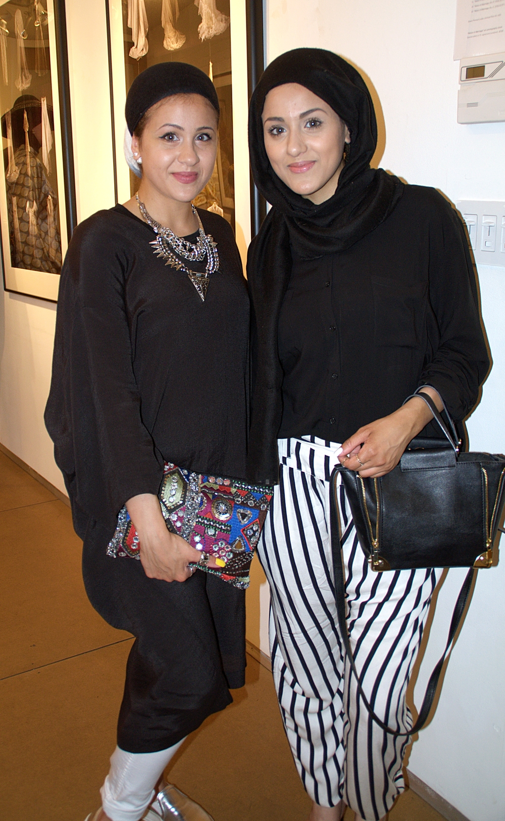 Amazingly Stylish Bloggers Roxi and Diane(@official_xeenah) came to hang out and view the collection.
