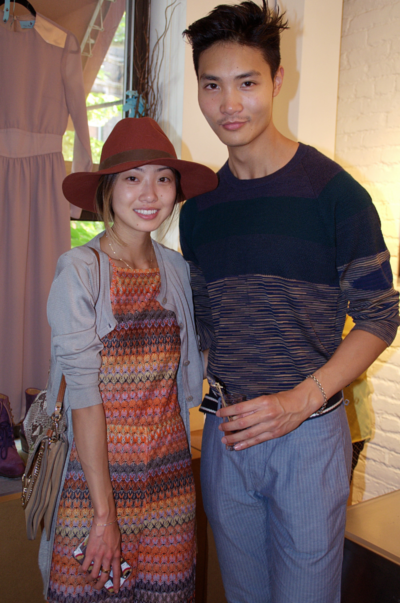 Blogger Emily Men (@emilymen) & guest take in the MTJF Showcase