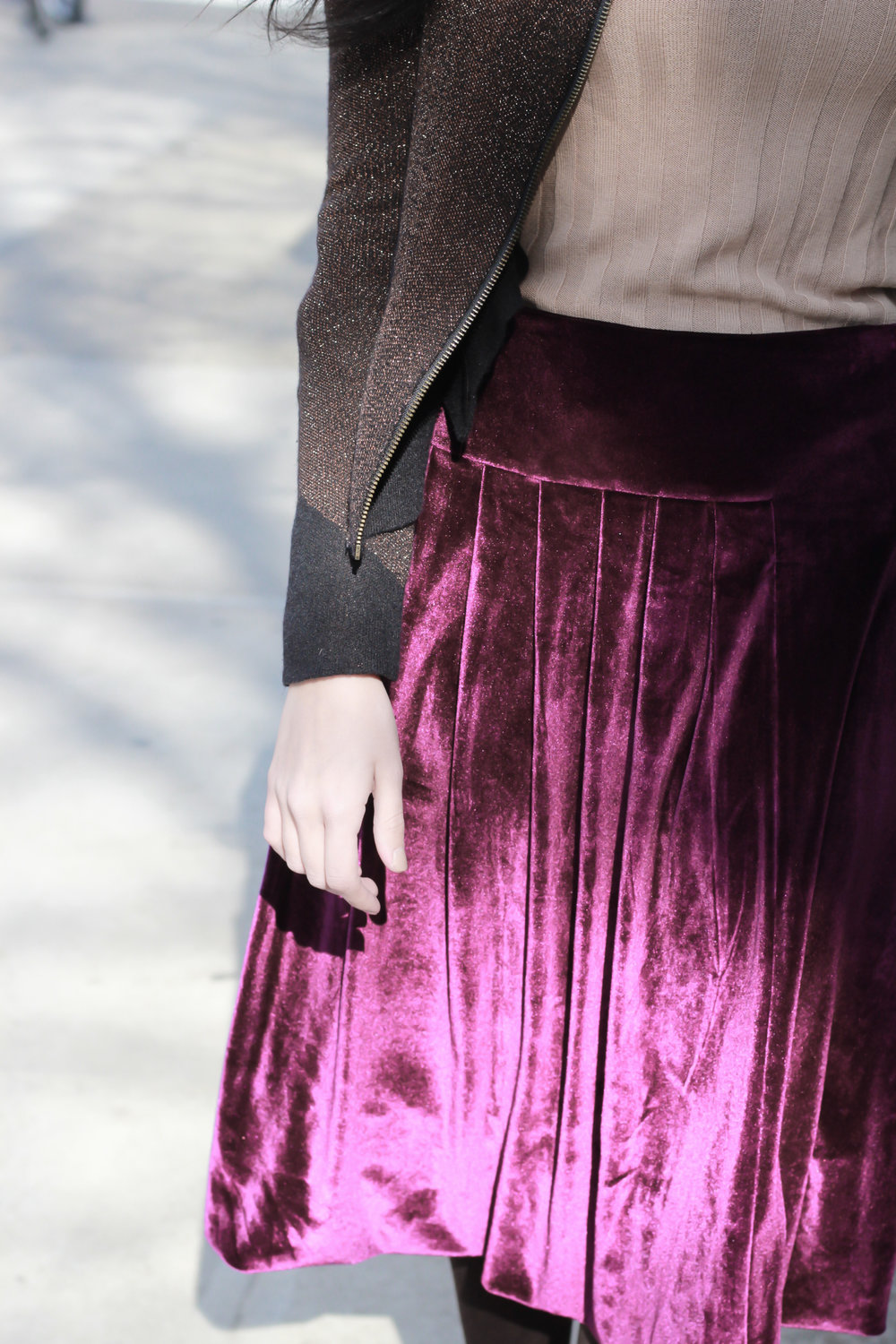 0a93d70e52e9 Le City Chic Velvet Skirt (Violet) — More Than Just Figleaves | Fashionable  modest Clothing Made in New York