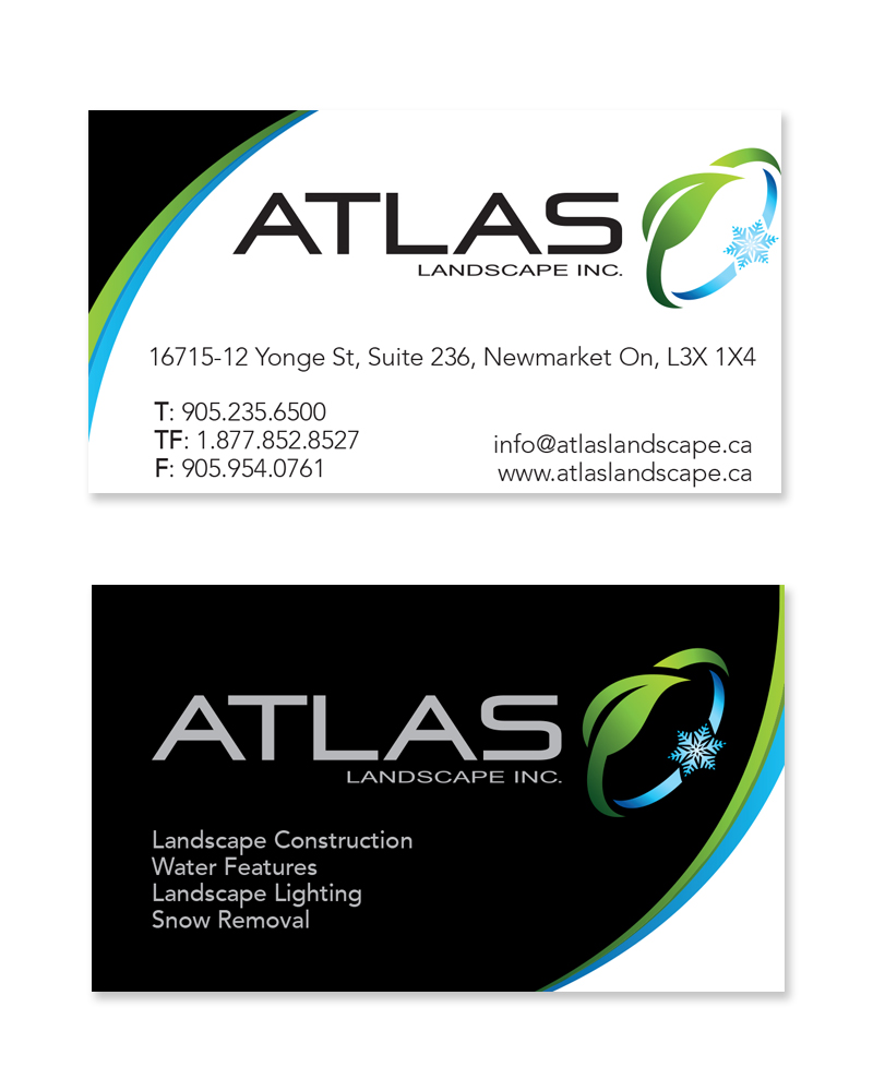 Business cards mattbott atlas landscaping reheart Image collections