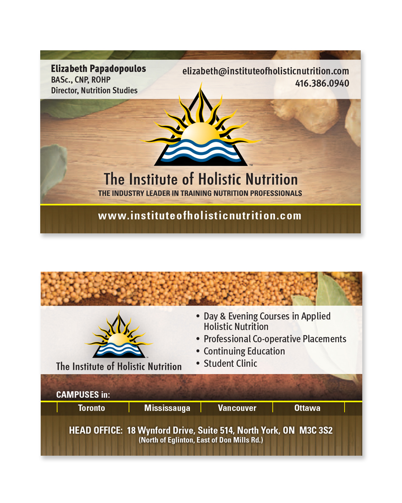 Business cards mattbott institue of holistic nutrition colourmoves