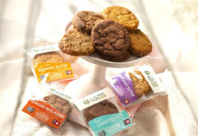Introducing Cookies from Laurie + MaryJane! Each cookie is pleasantly dosed at 10mg THC and infused with a full-spectrum coconut oil. Ask for them at your favorite Oregon dispensary! 🍪✨ #edibles #oregoncannabis #oregonweed #oregonedibles #fullspectrum #entourageeffect #veganedibles - -  - Disclaimer: Do not operate a vehicle or machinery under the influence of this drug. For use only by adults twenty-one years of age and older. Keep out of the reach of children and pets.