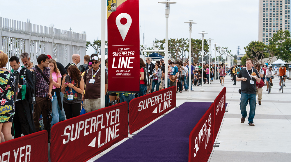The SuperFlyer Line - fast access to Comic Con meet and greets with their favorite celebrities.