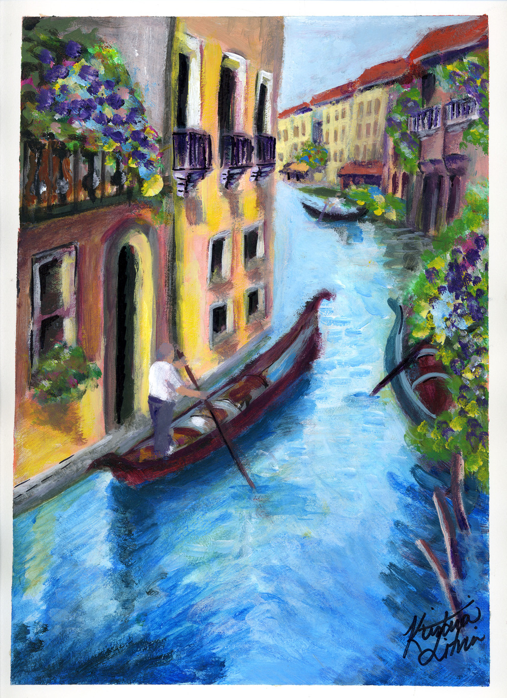 Caribbean Venice. Acrylic on canvas.