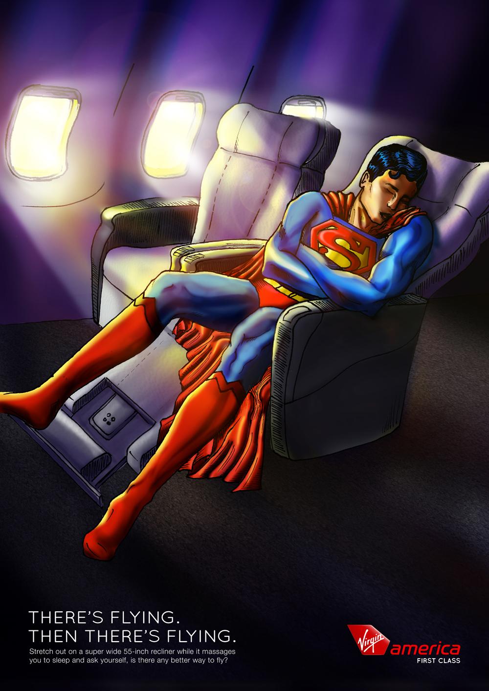 Superheroes In Flight