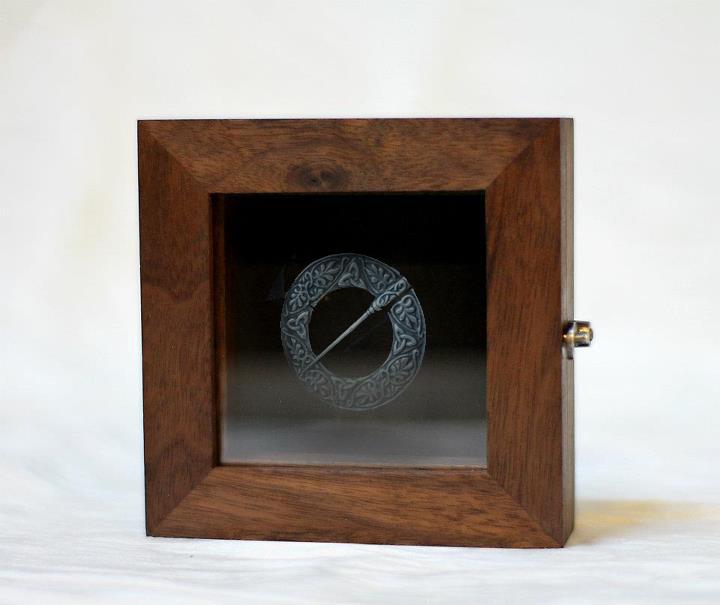 WALNUT JEWELRY BOX,  2011. Walnut, ebony, silver latch, steel hinges.
