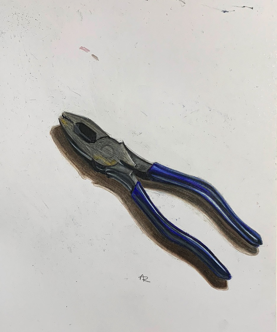 PLIERS , 2017. Colored pencils.