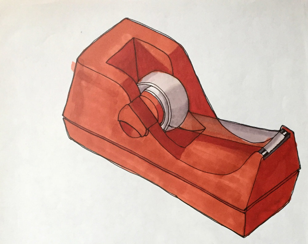 TAPE DISPENSER , 2005. Marker, pen,
