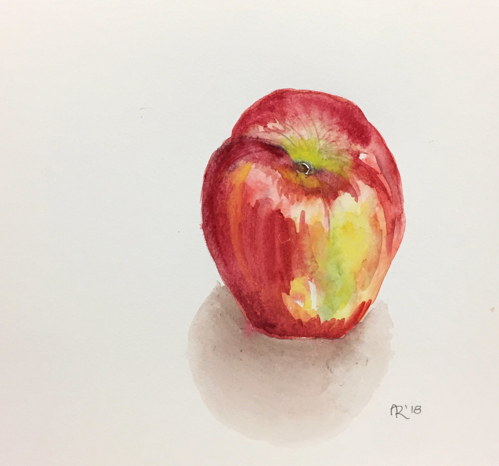 APPLE , 2018. Watercolor.