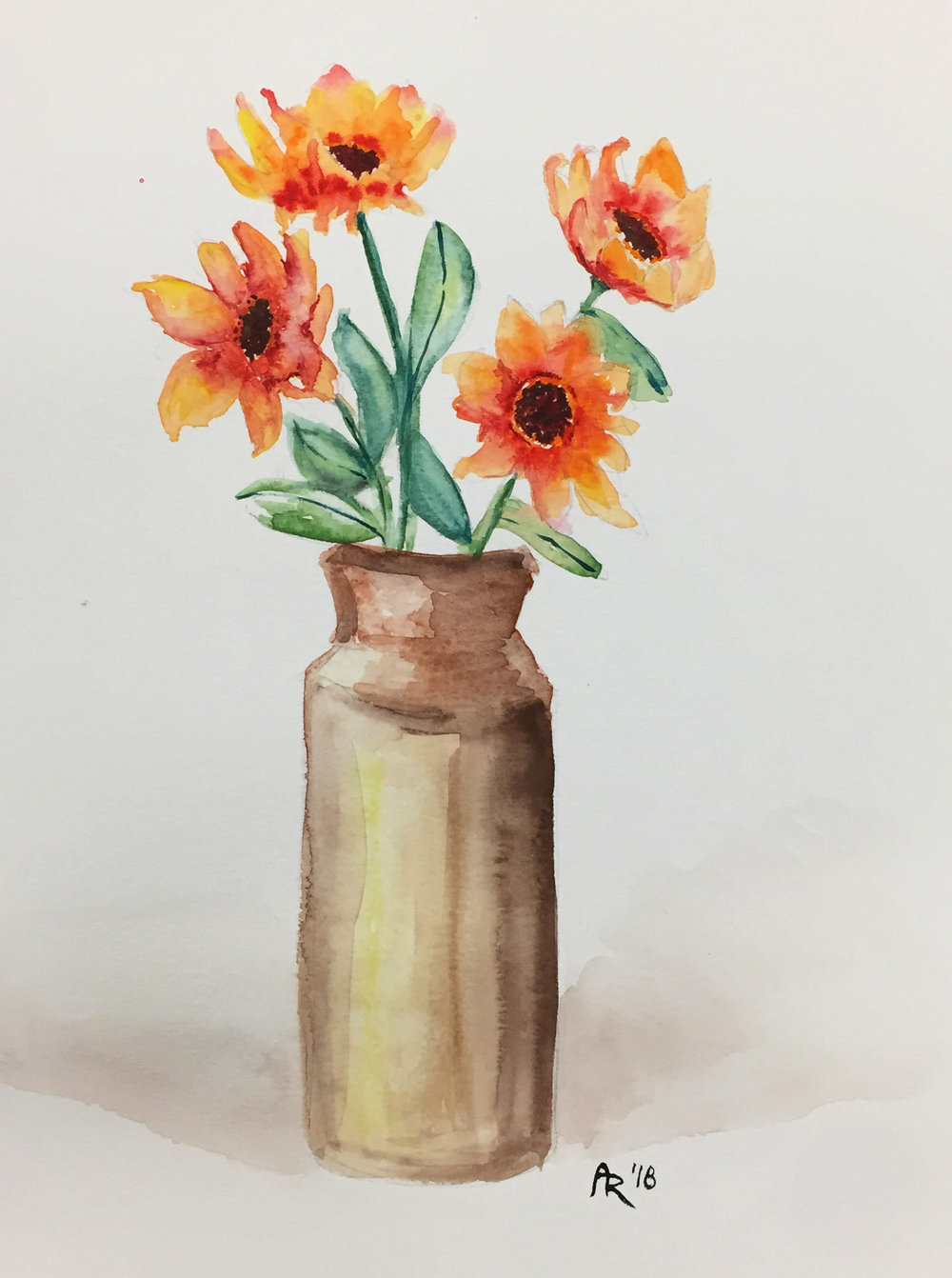 STILL LIFE , 2018. Watercolor.