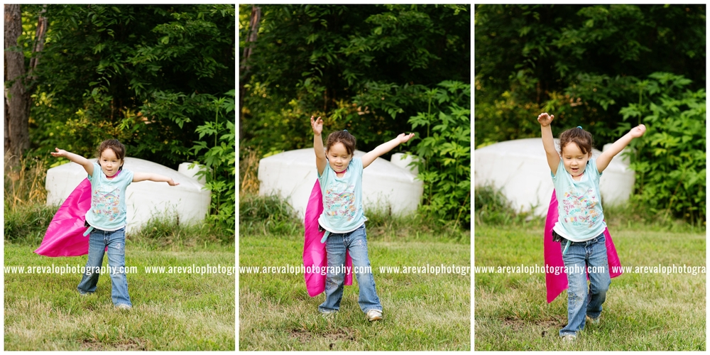 """I'm Amelia the Super Hero and I can FLY!"""