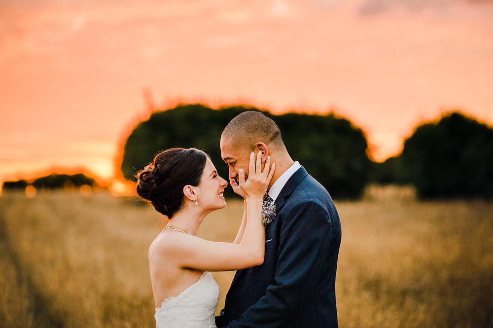 Bride Groom cute moment at sunset.jpg