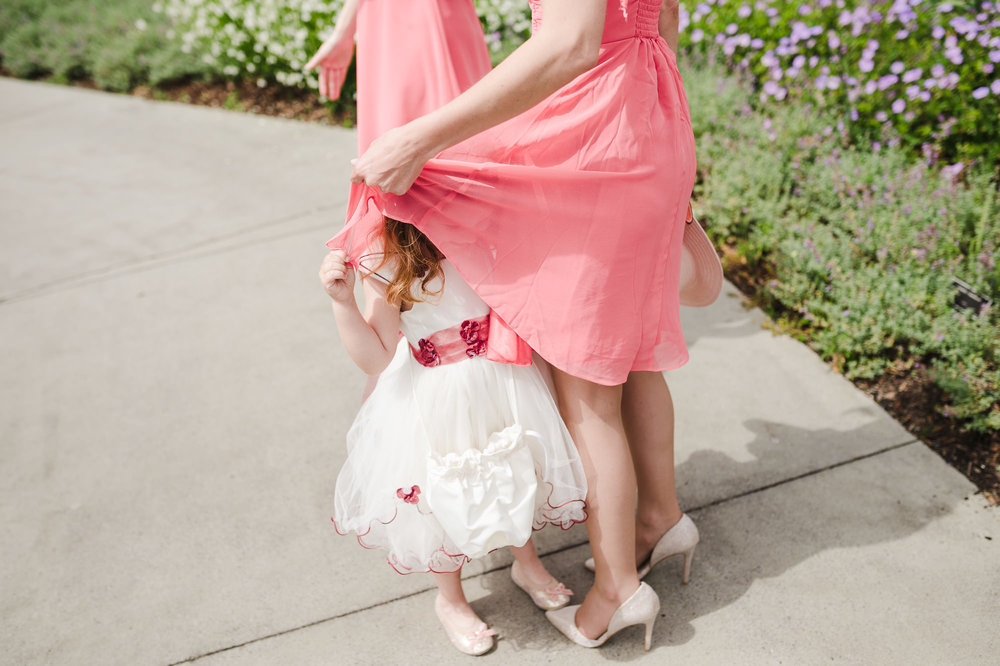58 funny moment flower girl in bridesmaid dress.JPG