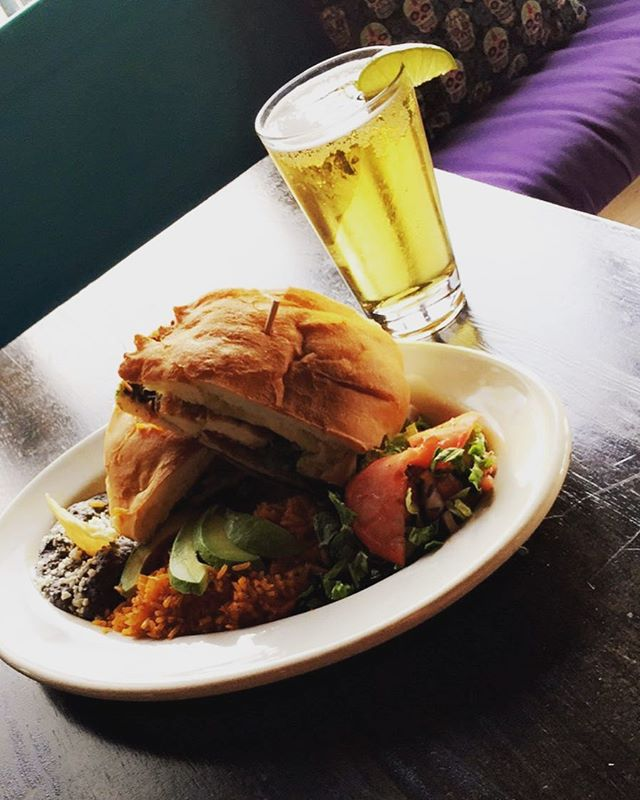 Today's special is a breaded chicken torta with rice and beans for $12! We also have $4 pints of Corona Light and Lagunitas Pilsner as well as $7 frozen Pina Coladas! #lasreinaschi #tortasallday