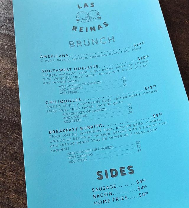 Now serving brunch on Saturdays and Sundays from 11-3 in addition to our regular menu.  Come check us out!! #brunch #lakeview #lasreinaschi  #tacos