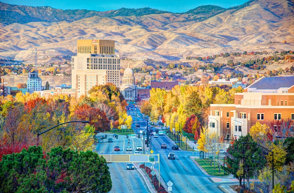 View of downtown Boise from the Train Depot in late October.   Photo courtesy of Jeremy Erickson Photography.    J  eremyrErickson.com